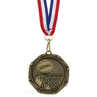 COMBO Netball Medal with 10mm R/W/B-AM1066.12